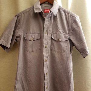 Supreme Grey Short Sleeve Work Shirt
